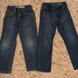 Boys size 6 jeans Gymboree and children's place.